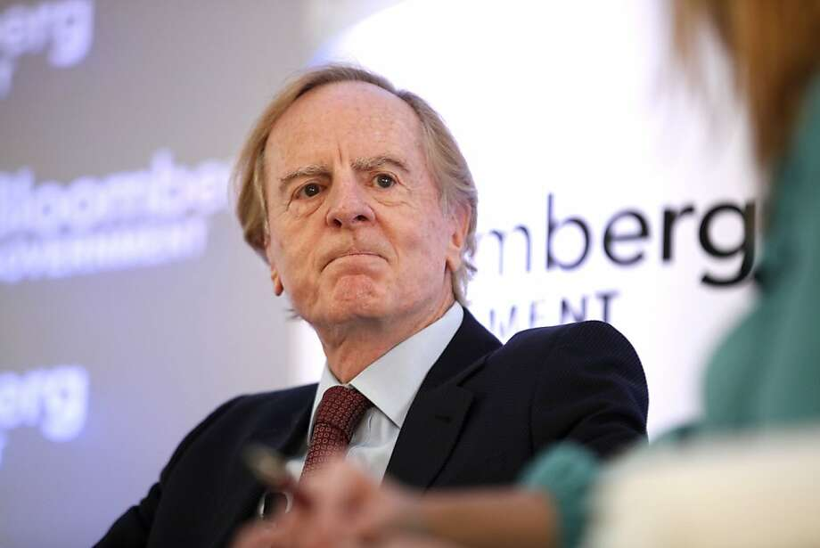 """John Sculley, former chief executive officer of Apple Inc., speaks at Bloomberg Government's """"Mind The Gap: Connecting Health Care Policy with Next Century Innovation"""" conference in Washington, D.C., U.S., on Tuesday, Nov. 5, 2013. Photo: Julia Schmalz, Bloomberg"""