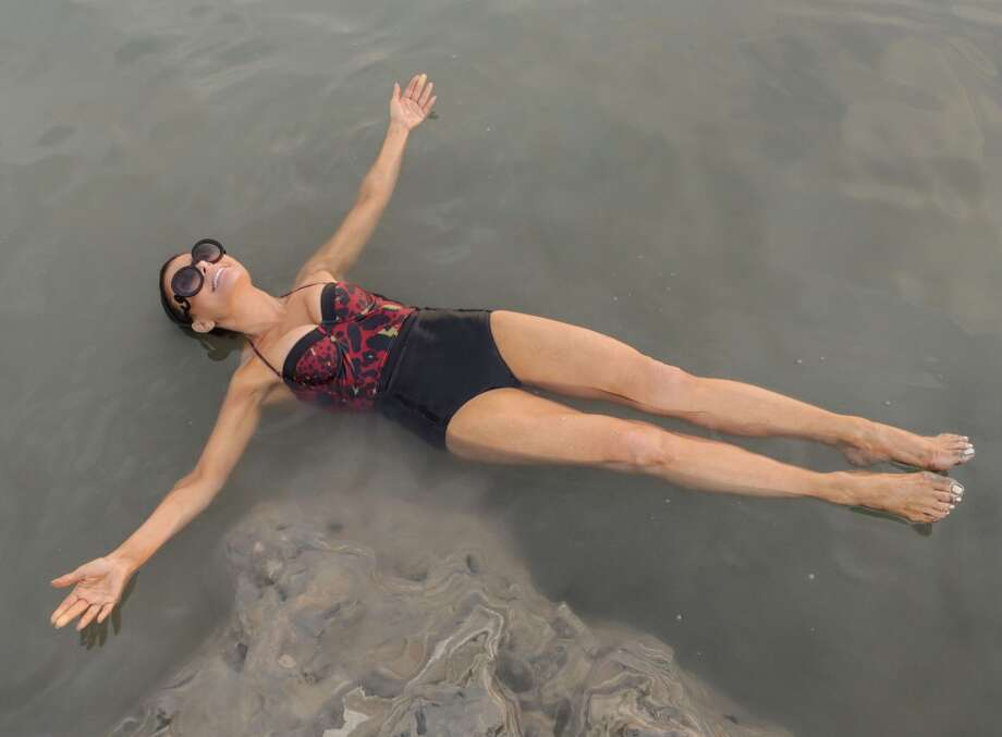 Paula Abdul visits the Dead Sea on November 1, 2013 in Galilee, Israel. Photo: Tiffany Rose, WireImage