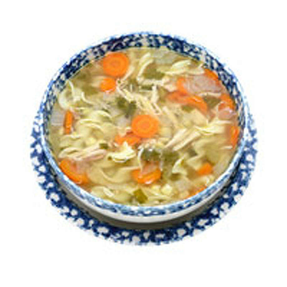6. Soup A cup of chicken soup is as appetite blunting as a piece of chicken: That was the finding of a Purdue University study with 18 women and 13 men. Why? Researchers speculate that even the simplest soup satisfies hunger because your brain perceives it as filling.Reprinted with Permission of Hearst Communications, Inc. Originally Published: 15 Foods to Help You Lose Weight Photo: Getty Images/StockDisc