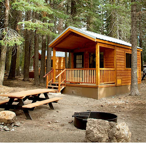 37 ideal cabin getaways sfgate for Camping cabins plans
