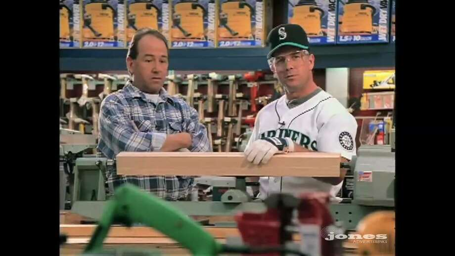 "Spokane-based Eagle Hardware and Garden was famous in the mid-'90s for featuring star Mariners players such as Edgar Martinez (remember the ""light bat""? The bat hose?), Randy Johnson and Jay Buhner. The Lowe's hardware store chain bought Eagle in 1999. Photo: Jones Advertising"