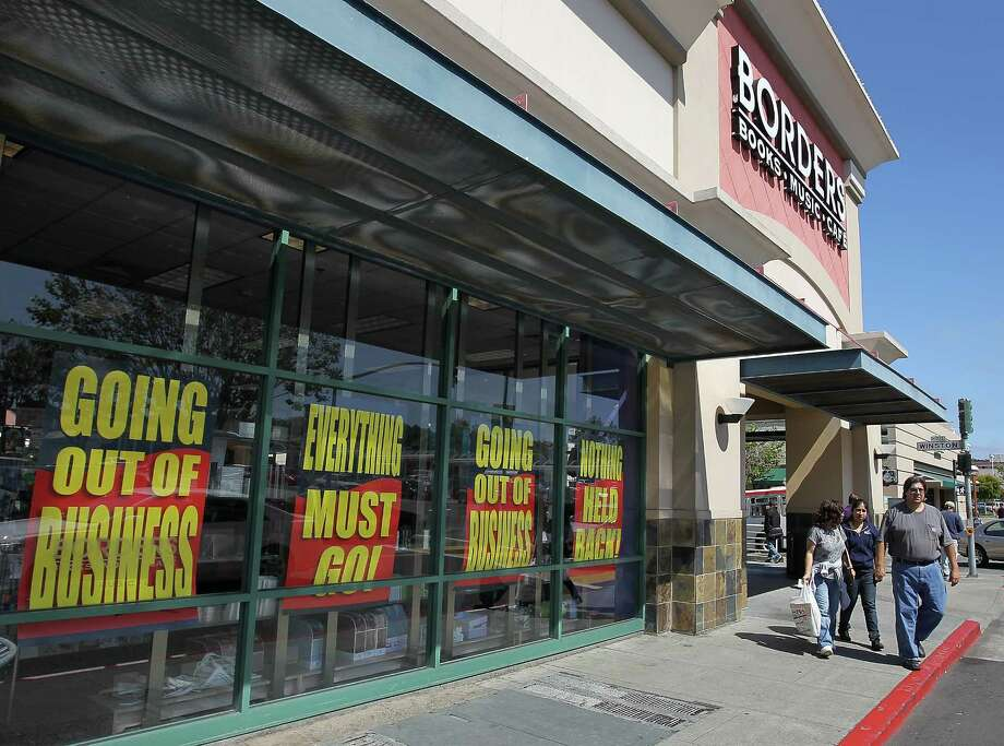 Borders bookstore, founded in 1971 in Ann Arbor, Mich. by college-aged brothers, filed for bankruptcy and was liquidated in 2011. Photo: Justin Sullivan, Getty / 2011 Getty Images