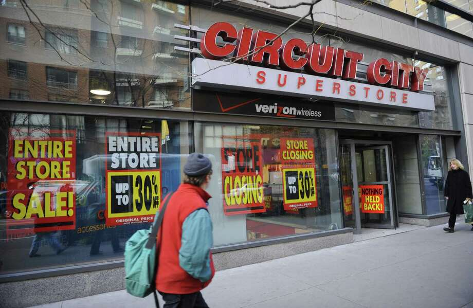 Circuit City began as Wards Company, a Richmond, Va.-based home appliance and television store, in 1949. It changed its name to Circuit City in 1981 after becoming a big box superstore and eventually became the No. 2 appliance retailer in the United States by 2000, bested only by Sears. The company went out of business in 2009 after a few years of steep layoffs and cost-cutting measures. In 2008, Blockbuster - yes, Blockbuster - withdrew a $1 billion bid to purchase the company. Photo: EMMANUEL DUNAND, Getty / 2008 AFP
