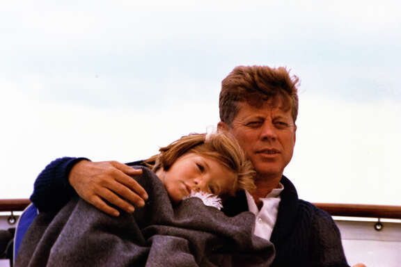 "President Kennedy and his daughter, Caroline, enjoy a weekend in Hyannis Port, Mass., in a two-part PBS ""American Experience"" documentary titled ""JFK."""