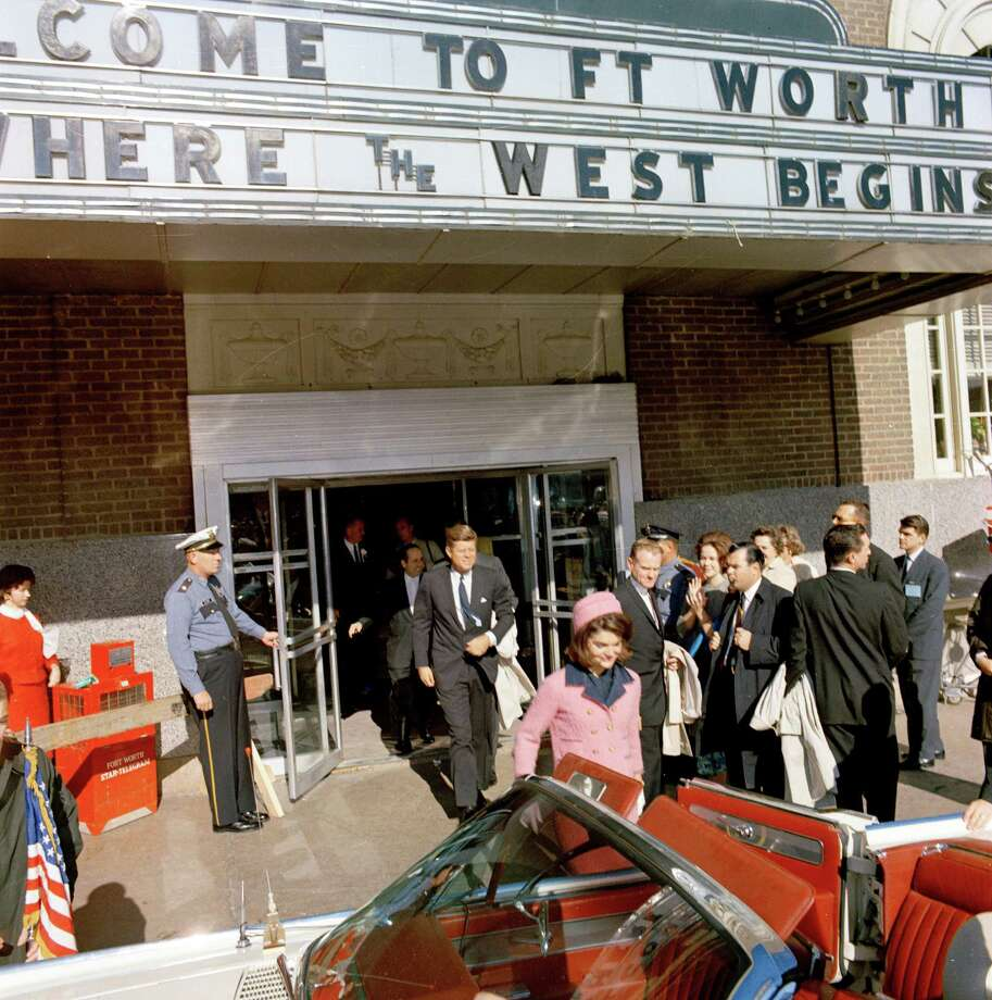 President and Mrs. Kennedy depart Fort Worth's Hotel Texas on their way to Dallas Nov. 22, 1963. Photo: Cecil Stoughton, Photogapher / JFK Library