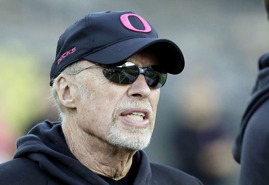 Nike founder Phil Knight has more than enough money, $18.3 billion, to buy Falls Church. But he seems pretty tied to Oregon, home of his beloved Ducks. Photo: Don Ryan, Associated Press