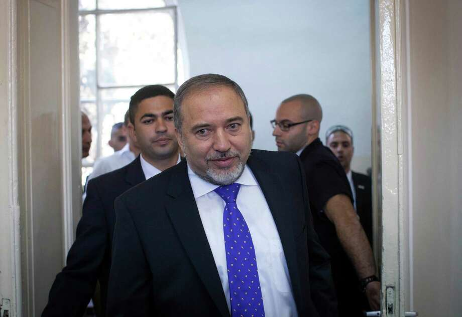 Hard-line politician Avigdor Lieberman was acquitted of all charges Wednesday in a corruption case. Photo: Emil Salman, POOL / Pool AFP