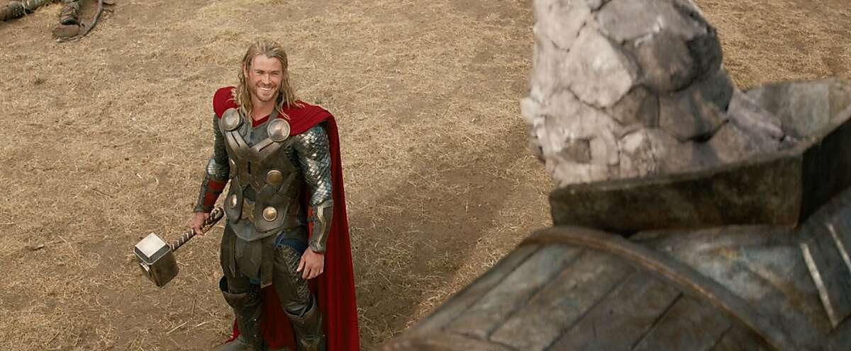 Thor comes face-to-face with a Kronan in