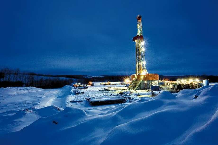 A Cabot Oil & Gas Corp. natural gas drilling rig operates in the Marcellus Shale in Pennsylvania. Photo: Ken Childress Photography