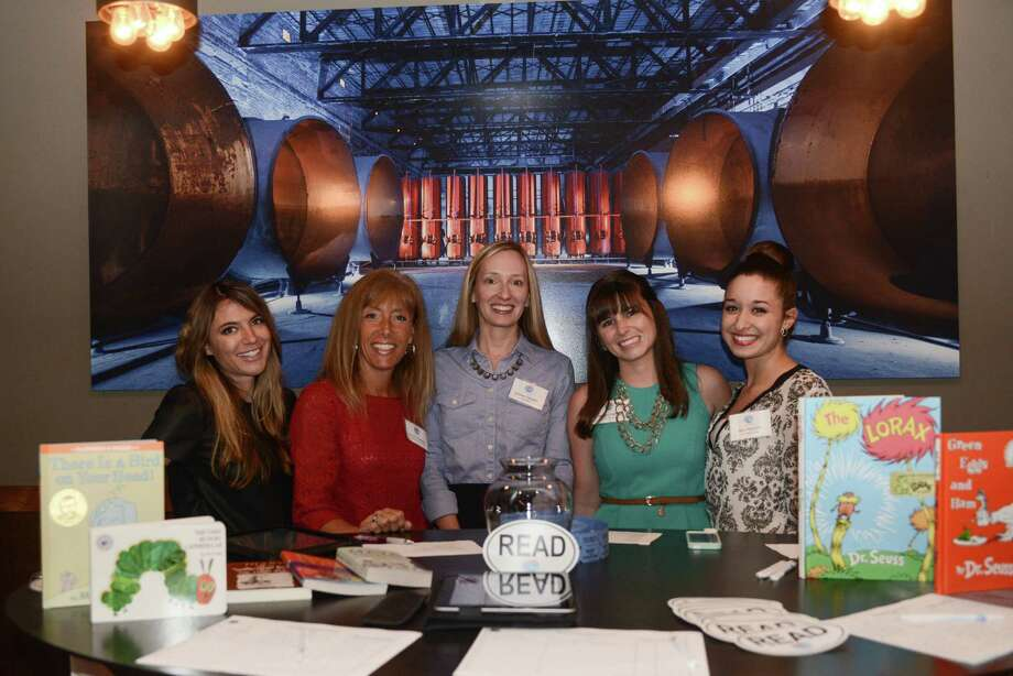 Kristen Depken, co-chairwoman of First Book-San Antonio, and members of the advisory board at the organization's Launch Party at at Blue Box at the Pearl Brewery on Nov. 4. Photo: Courtesy / Parish Photography