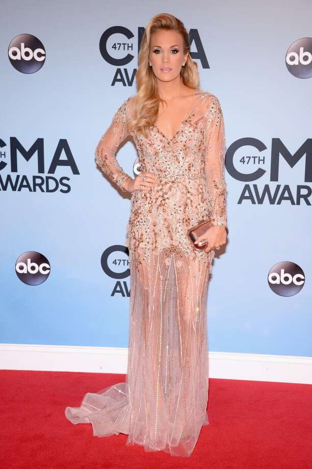 Carrie Underwood attends the 47th annual CMA Awards at the Bridgestone Arena on November 6, 2013 in Nashville, Tennessee. Photo: Michael Loccisano, Getty Images