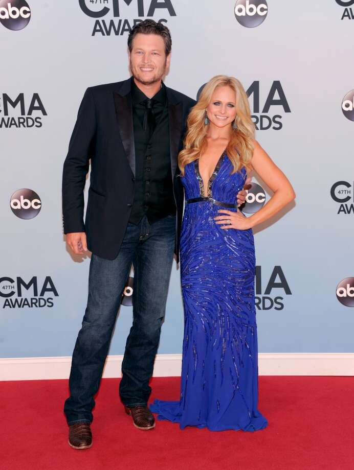 Miranda Lambert , right, and Blake Shelton arrive at the 47th annual CMA Awards at Bridgestone Arena on Wednesday, Nov. 6, 2013, in Nashville, Tenn. Photo: Evan Agostini, Associated Press