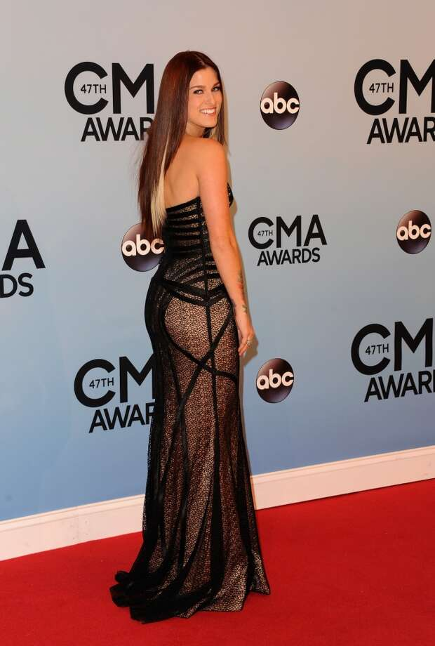 Singer Cassadee Pope attends the 47th annual CMA Awards at the Bridgestone Arena on November 6, 2013 in Nashville, Tennessee. Photo: Jon Kopaloff, FilmMagic