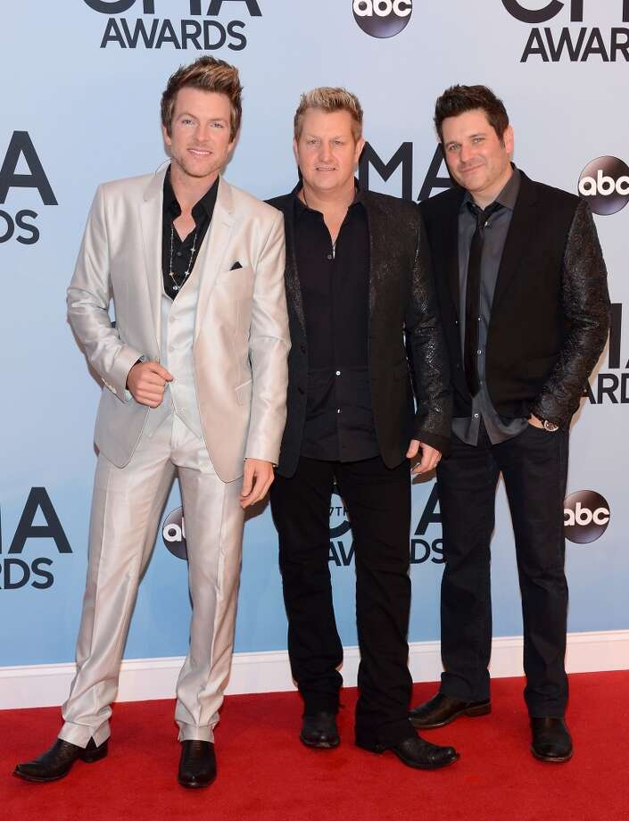 oe Don Rooney, Jay DeMarcus and Gary LeVox of Rascal Flatts attend the 47th annual CMA Awards at the Bridgestone Arena on November 6, 2013 in Nashville, Tennessee. Photo: Larry Busacca, WireImage