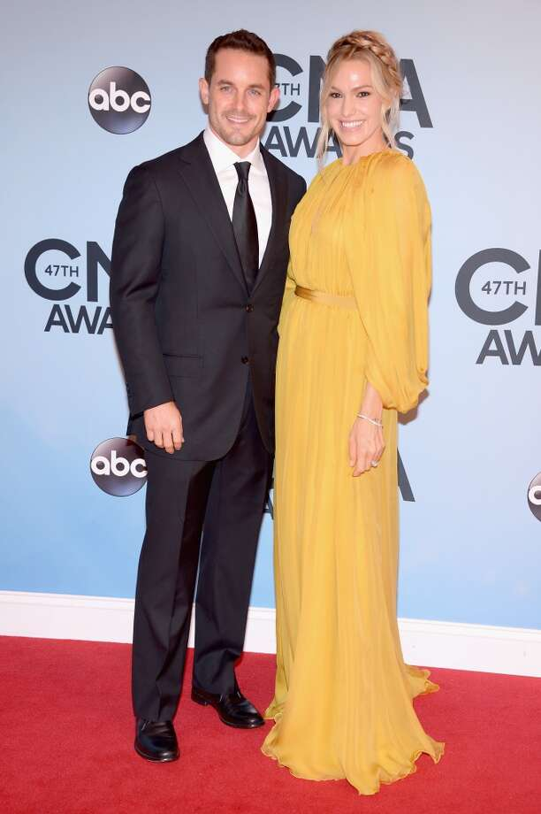 Race car driver Casey Mears (L) attends the 47th annual CMA Awards at the Bridgestone Arena on November 6, 2013 in Nashville, Tennessee. Photo: Michael Loccisano, Getty Images