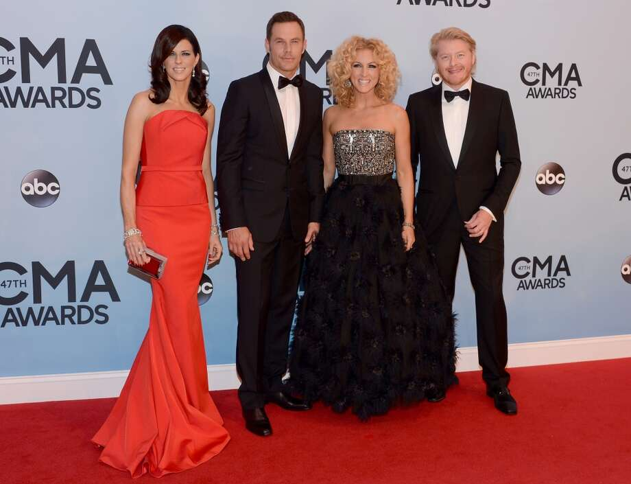 Karen Fairchild, Jimi Westbrook, Kimberly Schlapman and Philip Sweet of Little Big Town attend the 47th annual CMA Awards at the Bridgestone Arena on November 6, 2013 in Nashville, Tennessee. Photo: Larry Busacca, WireImage