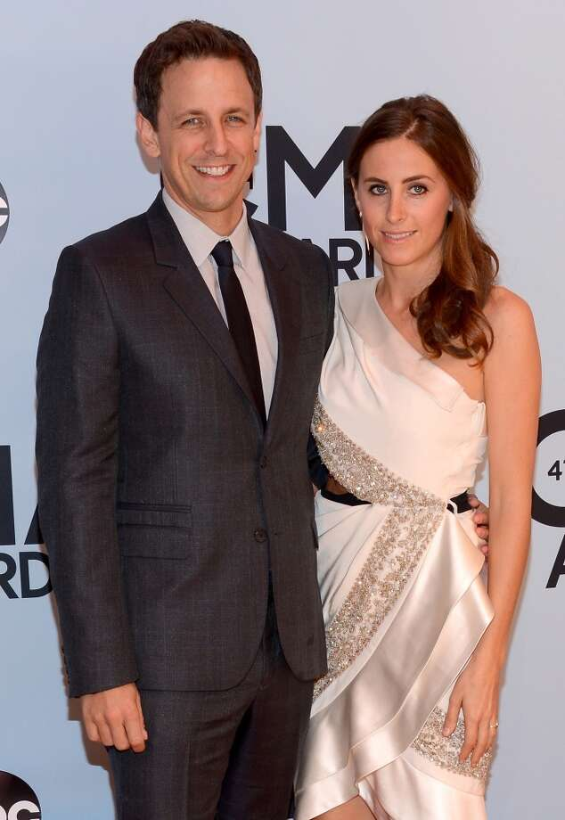 Seth Meyers (L) and Alexi Ashe attend the 47th annual CMA Awards at the Bridgestone Arena on November 6, 2013 in Nashville, Tennessee. Photo: Larry Busacca, WireImage