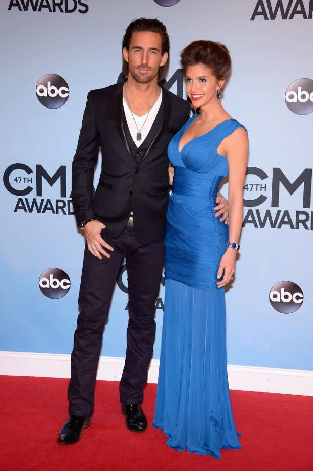 Jake Owen and wife Lacey Buchanan attend the 47th annual CMA Awards at the Bridgestone Arena on November 6, 2013 in Nashville, Tennessee. Photo: Michael Loccisano, Getty Images