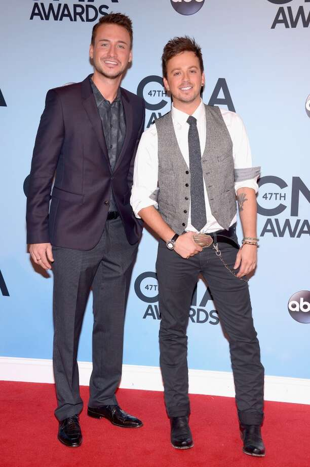 Love and Theft attends the 47th annual CMA Awards at the Bridgestone Arena on November 6, 2013 in Nashville, Tennessee. Photo: Michael Loccisano, Getty Images
