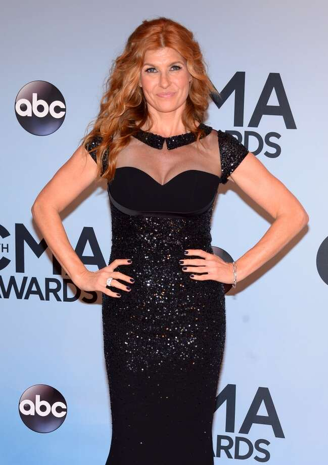Actress Connie Britton attends the 47th annual CMA Awards at the Bridgestone Arena on November 6, 2013 in Nashville, Tennessee. Photo: Michael Loccisano, Getty Images