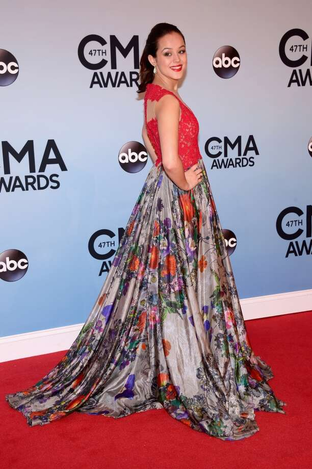 Musician Hayley Orrantia attends the 47th annual CMA Awards at the Bridgestone Arena on November 6, 2013 in Nashville, Tennessee. Photo: Michael Loccisano, Getty Images