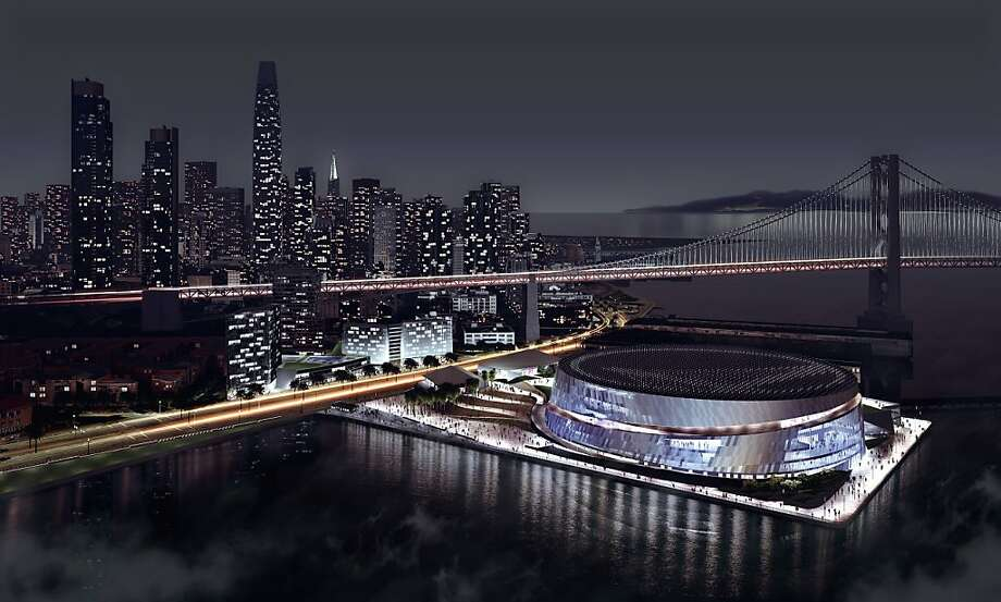 A rendition of the proposed Golden State Warriors arena at Piers 30-32. Courtesy the Golden State Warriors