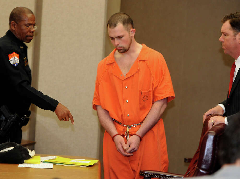 Derek Wesley McBride was sentenced Monday morning to eight years for intoxication assault and eight years to intoxication manslaughter for the 2012 death of Amber Roussell on Instate 10. Photo: GUISEPPE          BARRANCO / B