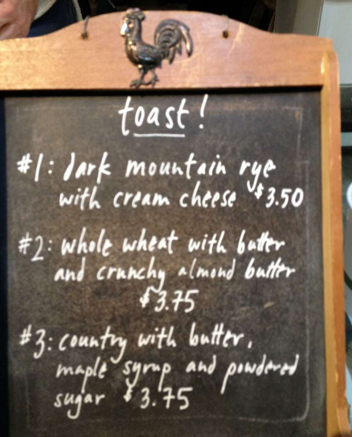 The Mill offers several freshly baked breads from partner Josey Baker, available as toast and/or as full loaves.