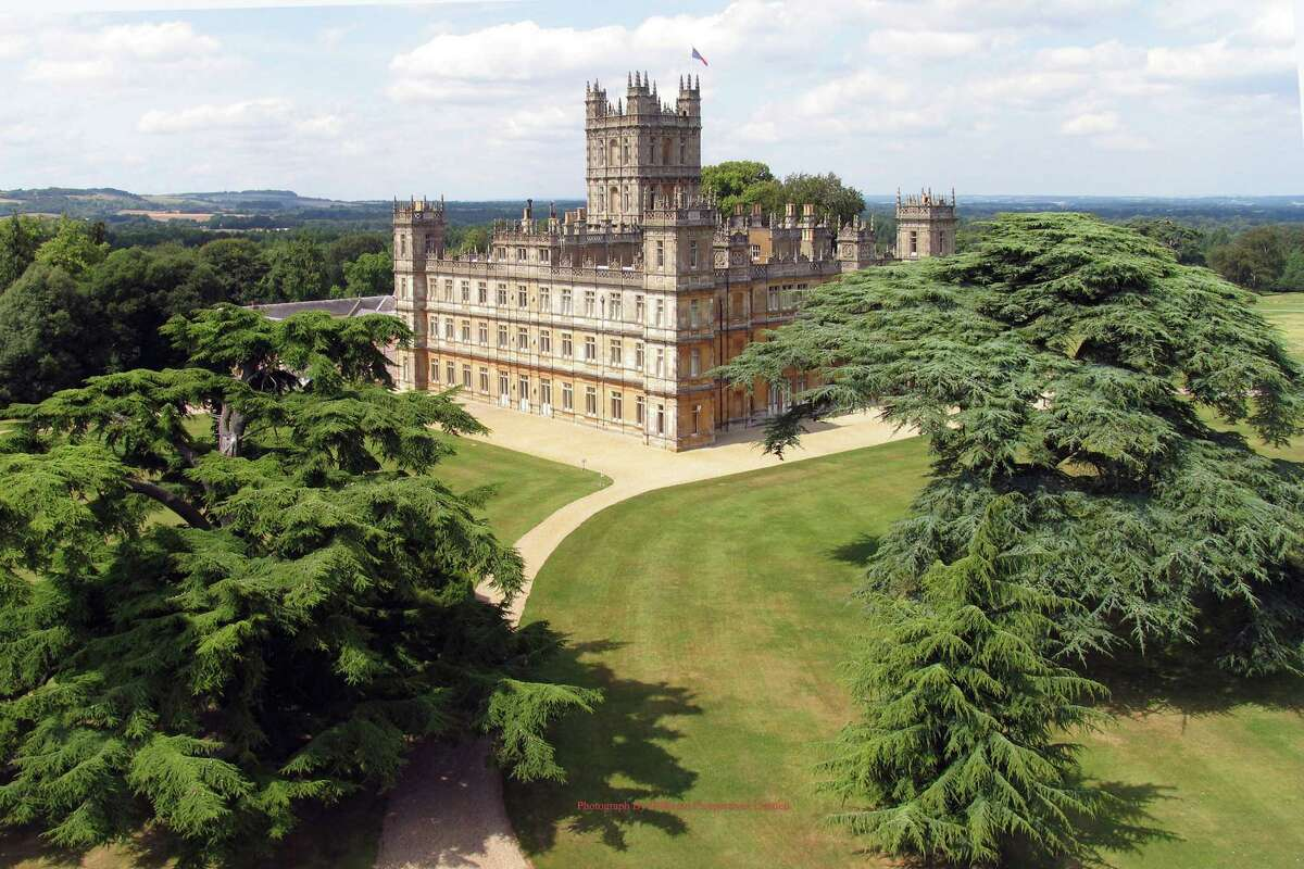 The Countess of Carnarvaron's home, Highclere Castle, where much of Downton Abbey is filmed. It was designed by Sir Charles Barry, the architect who envisioned Britain's Houses of Parliament. The Earl and Countess of Carnarvon are friends with Downton screenwriter Julian Fellowes.