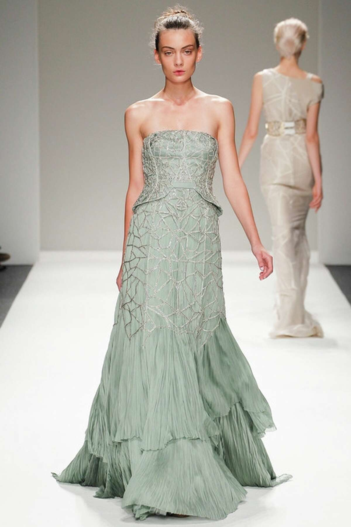 Designer Bibhu Mohapatra is showing his collection at Fashion Houston 2013.