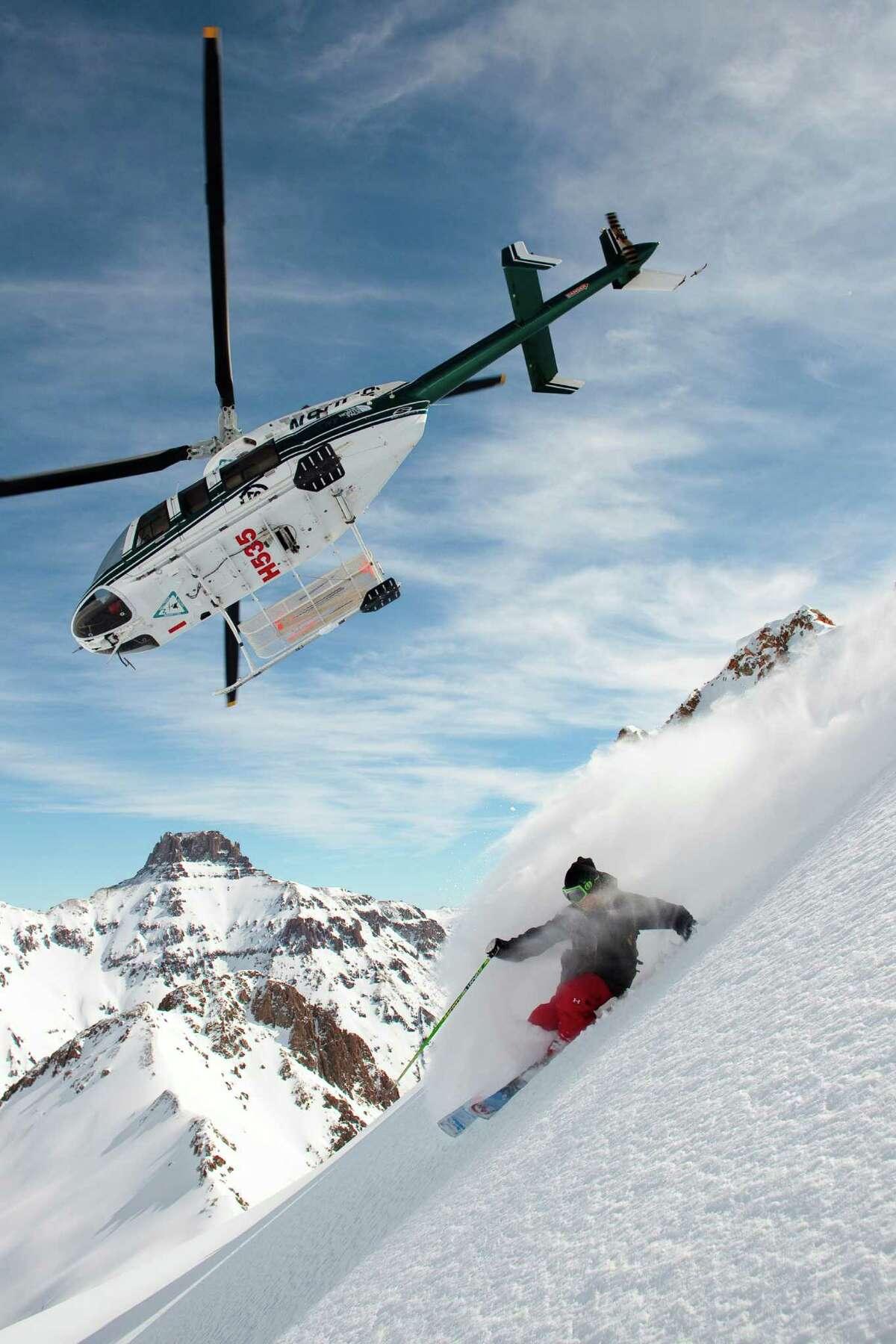 Helitrax heli-ski company takes skiers from Telluride to pristine ski spots across the San Juan Mountains.