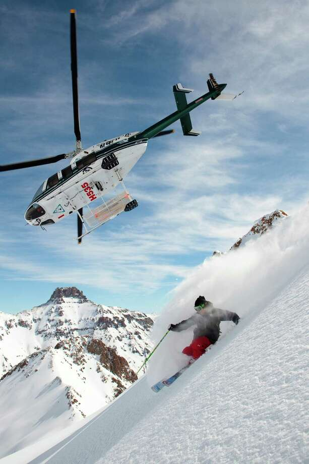 Helitrax heli-ski company takes skiers from Telluride to pristine ski spots across the San Juan Mountains. Photo: Jeff Cricco, Chief / ©Jeff Cricco