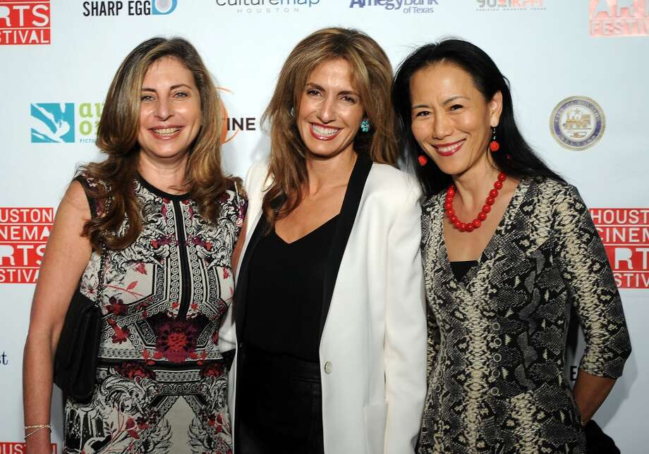 From left: Rania Daniel, Sima Ladjevardian and Y. Ping Sun Photo: Dave Rossman, For The Houston Chronicle