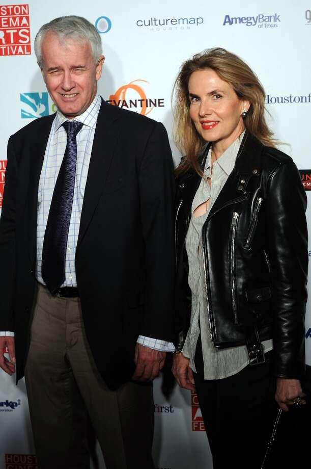 John Chesmond and Celina Hellmund Photo: Dave Rossman, For The Houston Chronicle