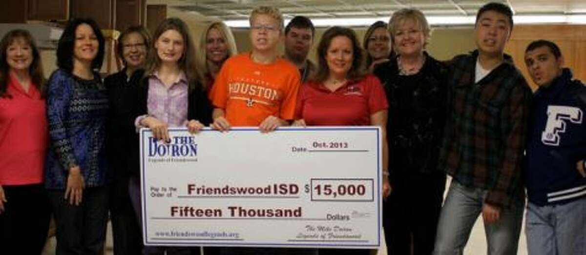 The Friendswood Independent School District recently received a $15,000 donation from the Mike Doiron - Legends of Friendswood.
