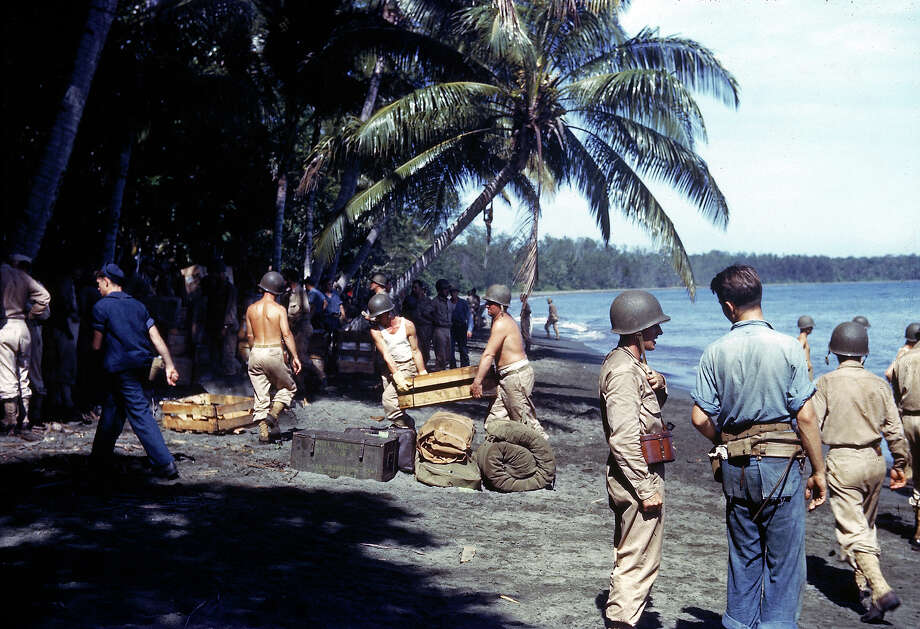 American troops unloading supplies on the shores of Guadalcanal Island in 1943. Photo: Frank Scherschel, Time & Life Pictures/Getty Image / Time Life Pictures