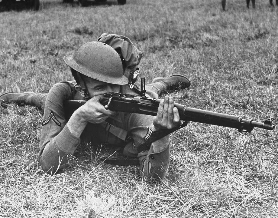 A view of a soldier using a Springfield rifle, 1938. Photo: William Vandivert, Time & Life Pictures/Getty Image / Time Life Pictures