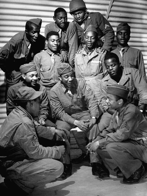 First African American troop the United States has ever sent to England, 1942. Photo: David E. Scherman, Time & Life Pictures/Getty Image / Time Life Pictures