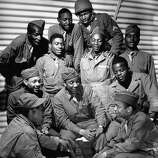First African American troop the United States has ever sent to England, 1942.