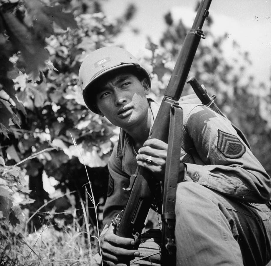 Japanese American soldier training at Camp Shelby during WWII, 1943. Photo: Al Fenn, Time & Life Pictures/Getty Image / Al Fenn