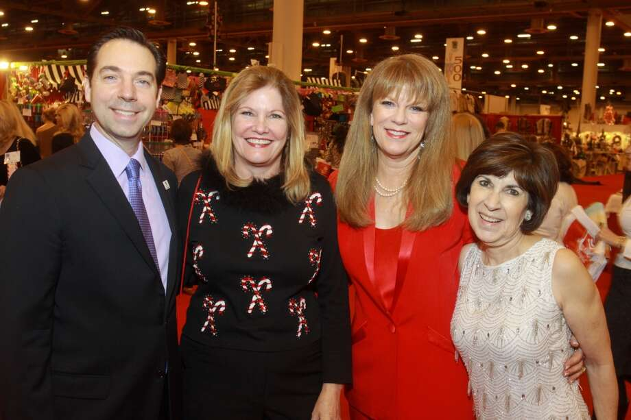 Jim Nelson, executive director of the Houston Ballet, from left, Marcia Harris, ticket sales chair, Lynda Transier, chair of the preview party, and Cynthia Brown, Nutcracker Market chair Photo: Gary Fountain, For The Chronicle