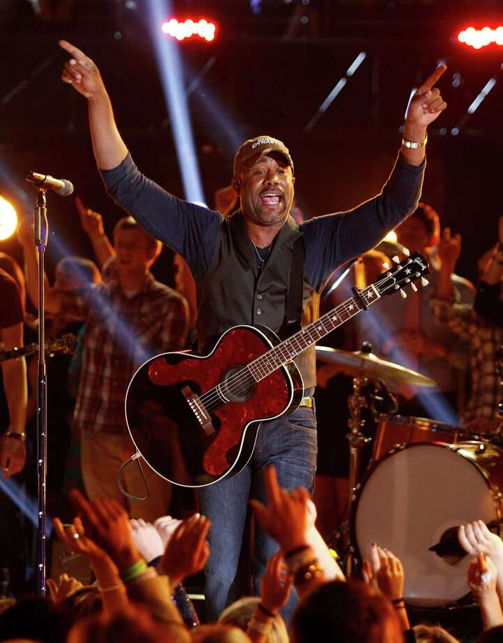 "Darius Rucker closes the 47th annual CMA Awards with a performance of ""Wagon Wheel"" at Bridgestone Arena on Wednesday, Nov. 6, 2013, in Nashville, Tenn. (Photo by Wade Payne/Invision/AP) ORG XMIT: TNDC339 Photo: Wade Payne, AP / Invision"