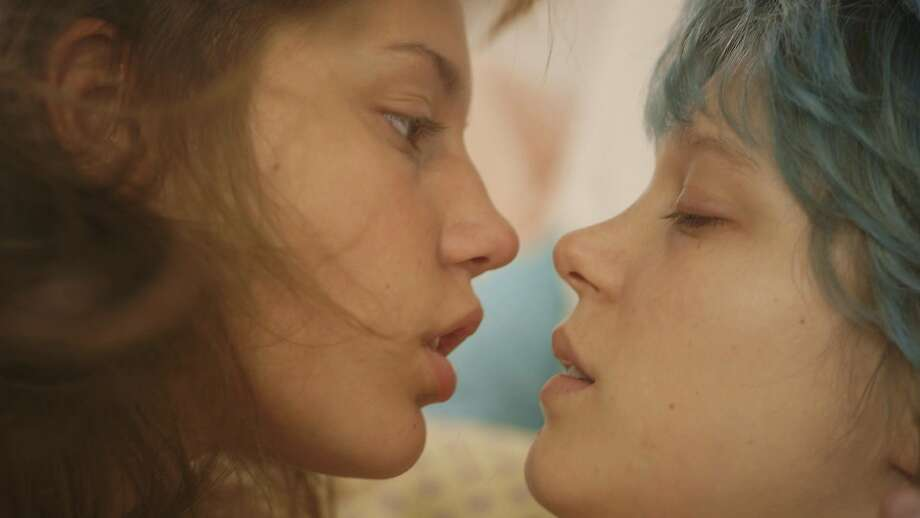 "This photo released by courtesy of Sundance Selects shows Adele Exarchopoulos, left, as Adele, and Lea Seydoux, as Emma, in the film, ""Blue Is the Warmest Color,"" directed by Abdellatif Kechiche. (AP Photo/Courtesy Sundance Selects) Photo: Associated Press"