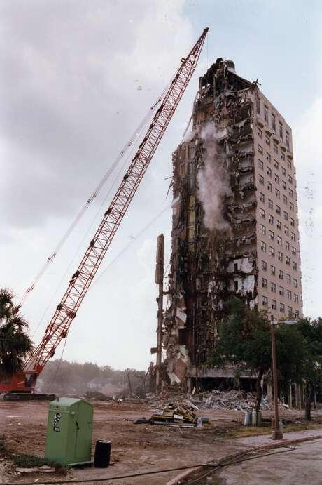 The Shamrock Hotel, demolished in 1987. Photo: Dave Einsel, Houston Chronicle