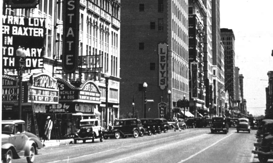 Historic movie theatersSeveral of Houston's famous movie theaters once stood on Main Street, including Loew's State and the Metropolitan. Photo: Houston Chronicle Files
