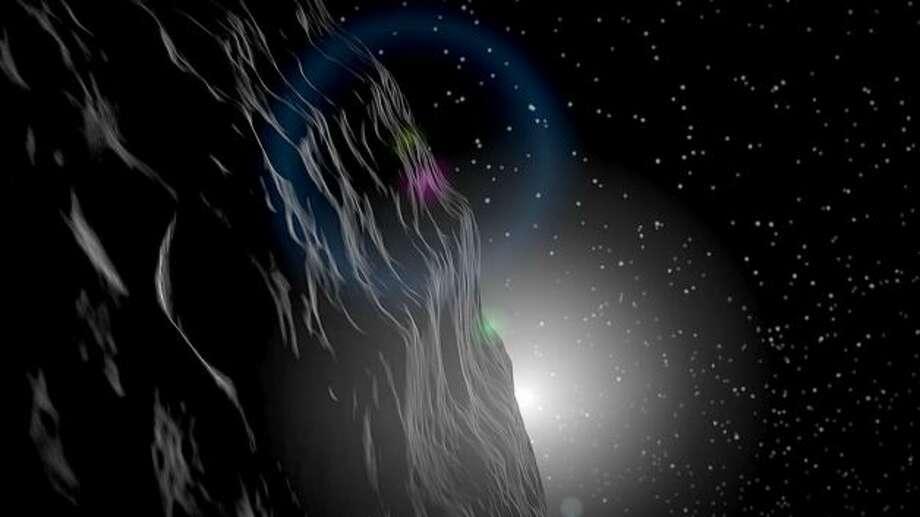 Artist rendition of an asteroid Photo: NASA