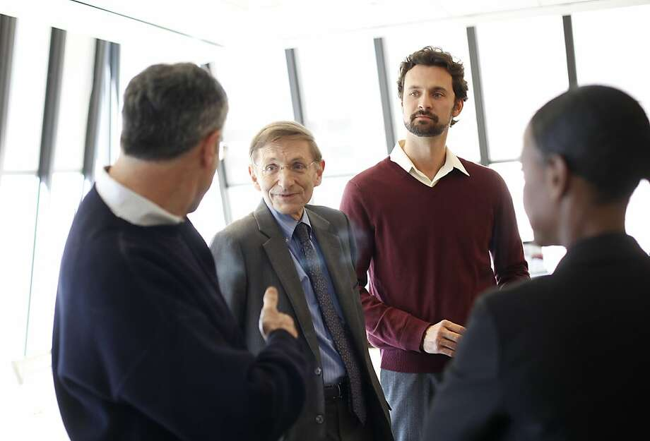 "Bill Drayton (second from left), founder of Ashoka and a MacArthur grant winner, says there is a careful selection process involved in the funding of ""fellows,"" or social entrepreneurs. Photo: Sarah Rice, Special To The Chronicle"
