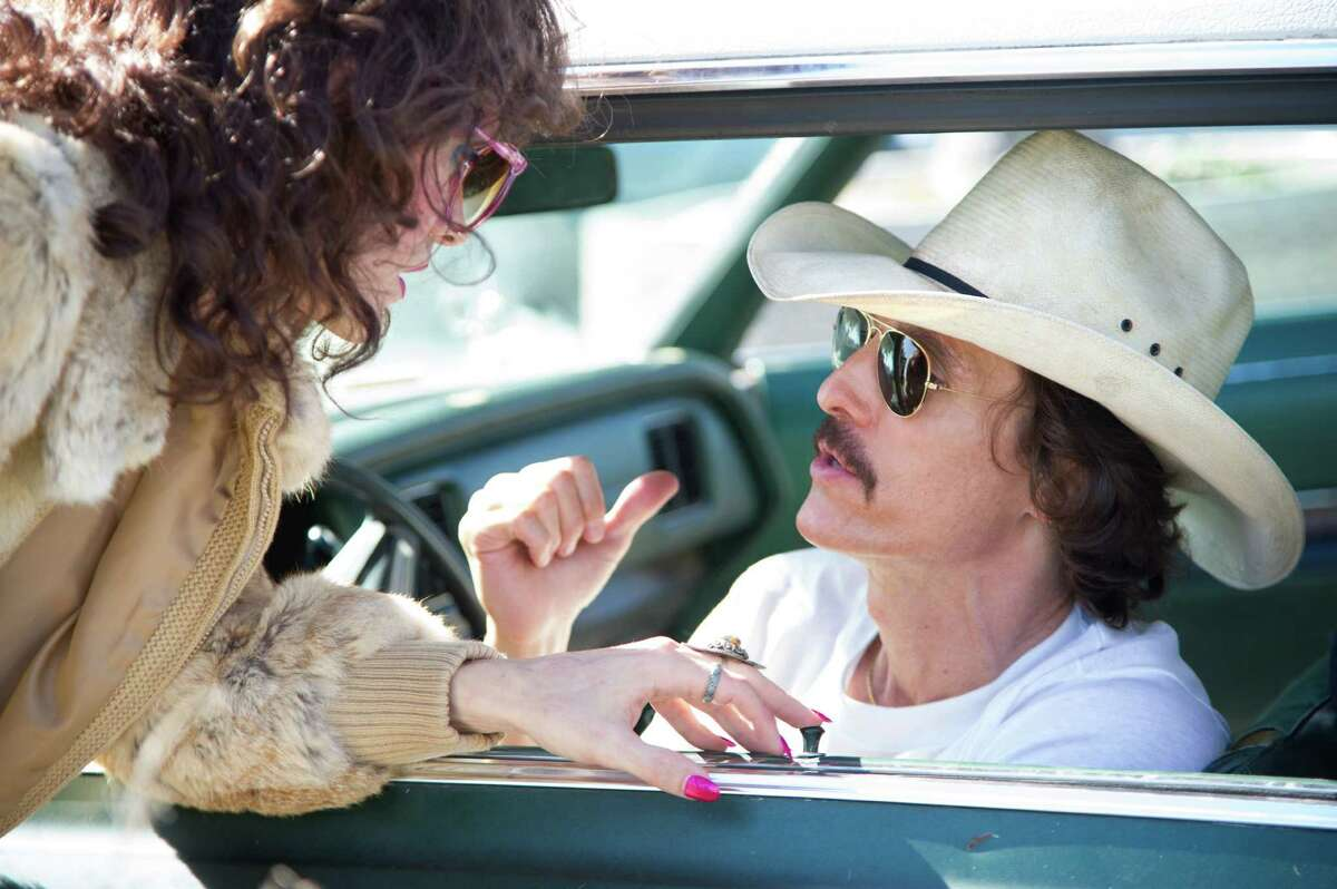 """The working relationship between Rayon (Jared Leto, left) and Ron Woodroof (Matthew McConaughey) develops into a real friendship in """"Dallas Buyers Club."""""""
