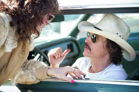 "The working relationship between Rayon (Jared Leto, left) and Ron Woodroof (Matthew McConaughey) develops  into a real friendship  in ""Dallas Buyers Club."""