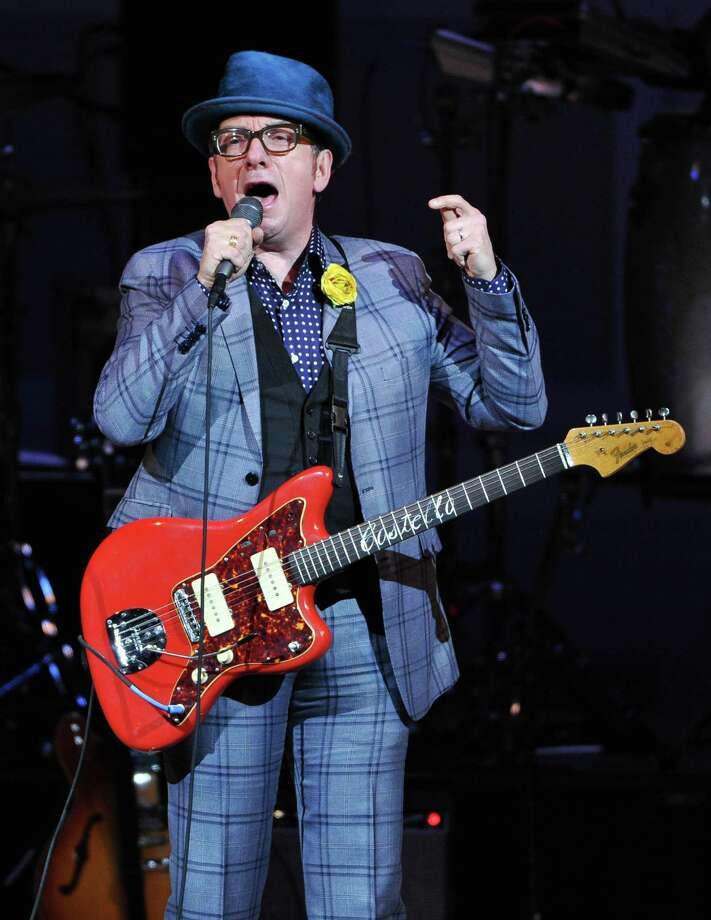 "Musician Elvis Costello performs at ""The Music of Prince"" tribute concert at Carnegie Hall on Thursday March 7, 2013 in New York. (Photo by Evan Agostini/Invision/AP) Photo: Evan Agostini / Invision"